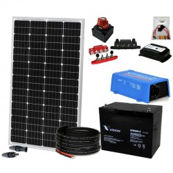 Kit 069 - Off-Grid PV Solar kit 175W 12V, 500W/day, weekend-summer