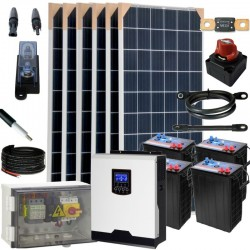 Kit 076 - Off-Grid PV solar kit 3kW 24V, 7,8kW/day, permanent housing