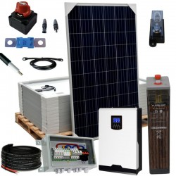 Kit 081 Off-Grid PV solar kit, 5kW 48V, 15,6 kW/day, permanent housing