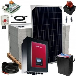 Kit 083 Off-Grid PV solar kit 6kW 132V, 31,46kW/day, permanent housing