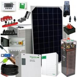 Kit 085 Kit fotovoltaica aislada 6,8kW 48V, 21,7kW/día, Vivienda permanente