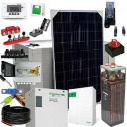 Kit 085 - Off-Grid PV solar kit 6,8kW 48V, 21,7kW/day, permanent housing