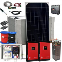 Kit 086 - Off-Grid PV solar kit 10 kW 48V, 36,3 kW/day, permanent housing