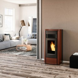 Piazzetta Superior Mina pellet stove ductable forced ventilation